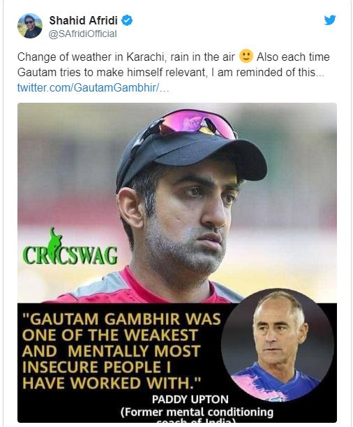 Paddy Upton Bites into Gautam Gambhir