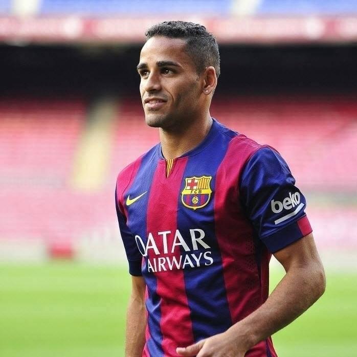 Douglas had a short spell at Barca